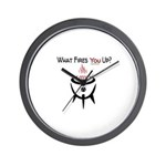 GrillJunkie What Fires You UP? Wall Clock