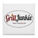 GrillJunkie Logo Tile Coaster