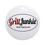 GrillJunkie Logo Round Ornament