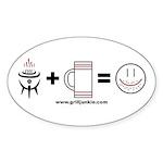Grilling + Beer = Happy Sticker