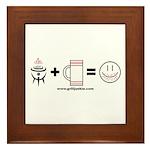 Grilling + Beer = Happy Framed Tile