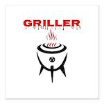 GRILLER by GrillJunkie Square Car Magnet 3