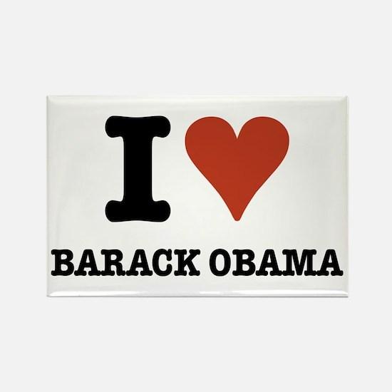 I love Barack Obama Rectangle Magnet