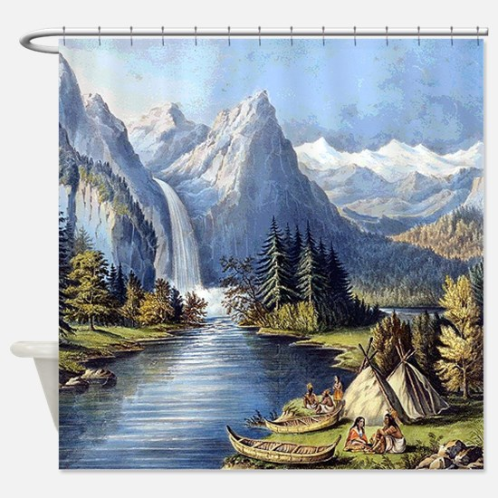 Funny Native american art Shower Curtain