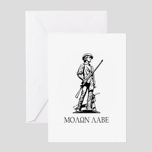 Molon Labe Minuteman Greeting Card