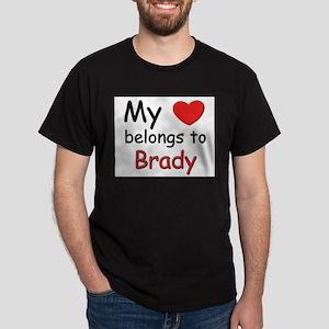 My heart belongs to brady Ash Grey T-Shirt