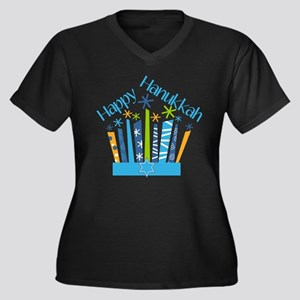 Happy Hanukkah Candles Plus Size T-Shirt