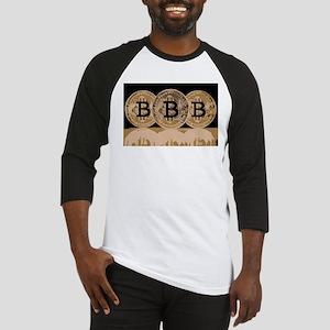Bitcoin Logo Symbol Design Icon Baseball Jersey
