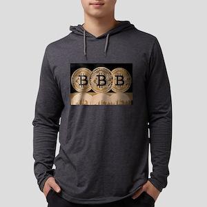 Bitcoin Logo Symbol Design Ico Long Sleeve T-Shirt