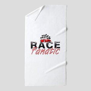 Auto Race Fanatic Beach Towel