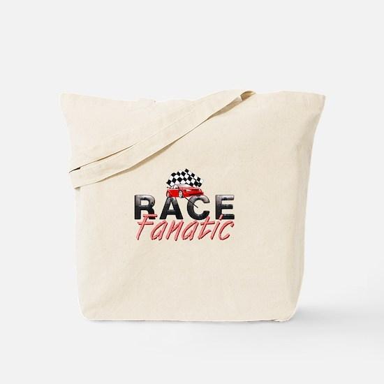 Auto Race Fanatic Tote Bag