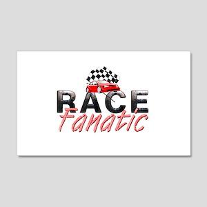 Auto Race Fanatic 20x12 Wall Decal