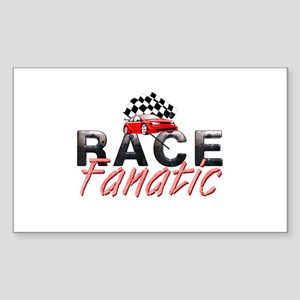 Auto Race Fanatic Sticker (Rectangle)