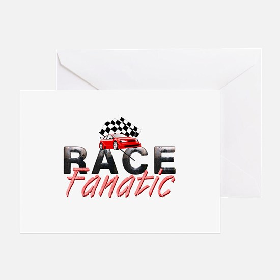 Auto Race Fanatic Greeting Card