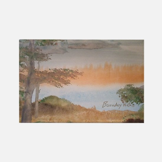 Funny Boundary waters Rectangle Magnet