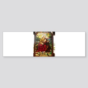stained glass Jesus Bumper Sticker