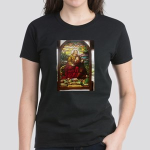 stained glass Jesus T-Shirt