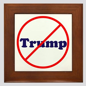 Anti Trump, Dump Drumpf, no Trump Framed Tile