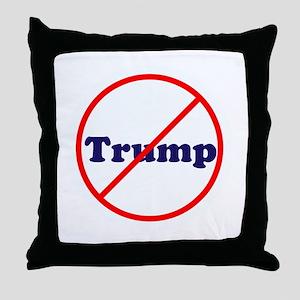 Anti Trump, Dump Drumpf, no Trump Throw Pillow