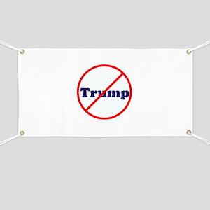 Anti Trump, Dump Drumpf, no Trump Banner