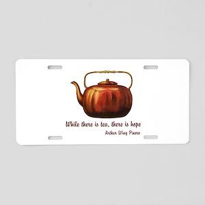 Tea & Hope Aluminum License Plate