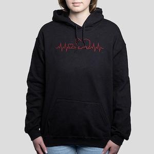 TIBETAN SPANIEL Women's Hooded Sweatshirt