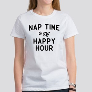 Nap Time Is My Happy Women's Classic White T-Shirt