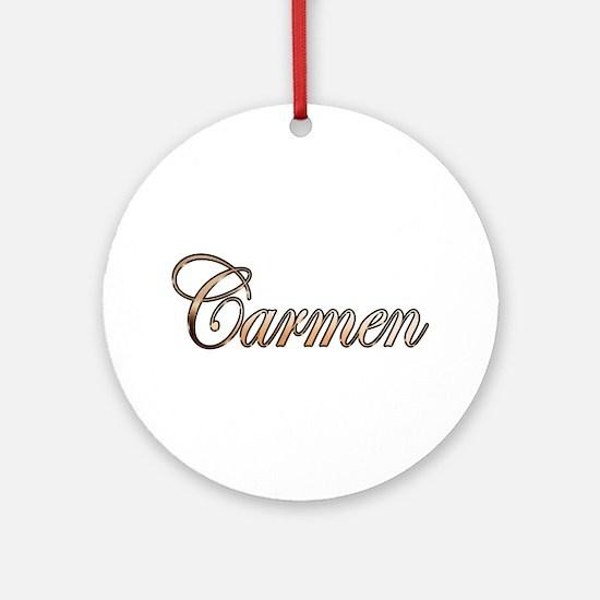Cute Carmen Round Ornament