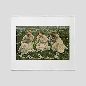 Dandelion Girls Throw Blanket