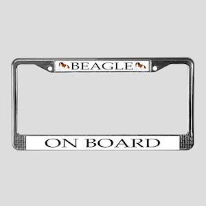 Cartoon Beagle License Plate Frame