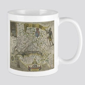 Vintage Map of Virginia (1618) Mugs