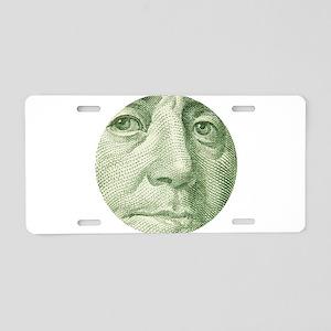 Benjamin Franklin Aluminum License Plate