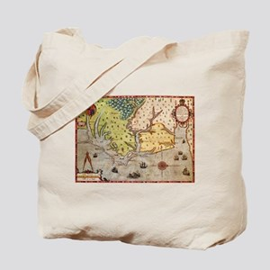 Vintage Map of The North Carolina Coast ( Tote Bag