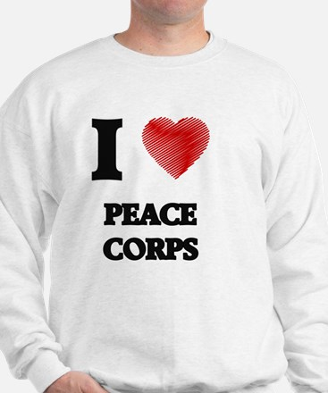 I Love Peace Corps Sweatshirt