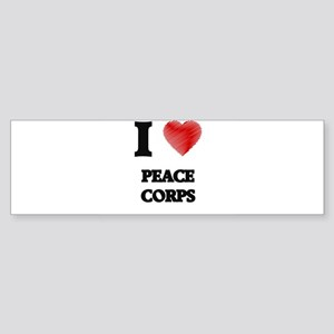 I Love Peace Corps Bumper Sticker