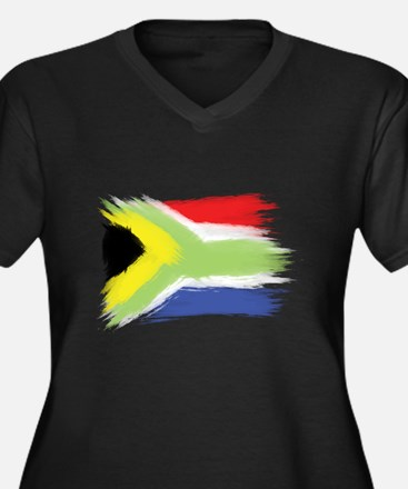 South Africa flag cape town Plus Size T-Shirt