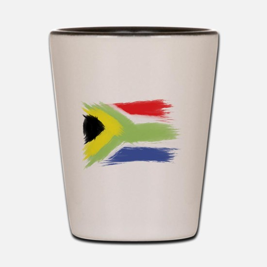 South Africa flag cape town Shot Glass