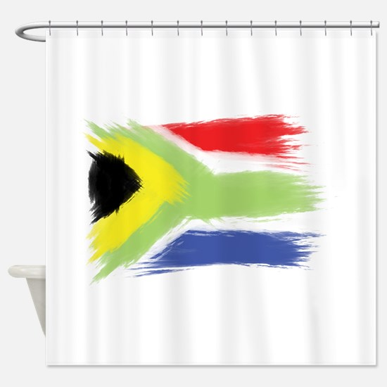 South Africa Flag Cape Town Shower Curtain