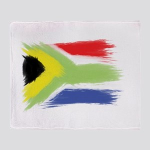 South Africa flag cape town Throw Blanket