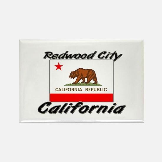 Redwood City California Rectangle Magnet