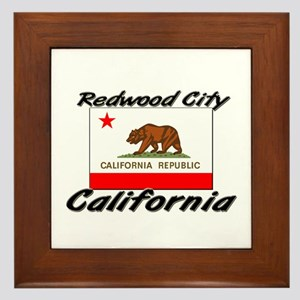 Redwood City California Framed Tile