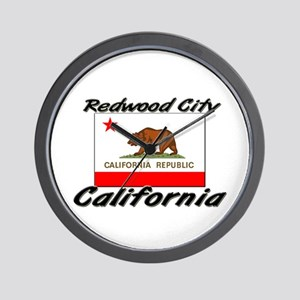 Redwood City California Wall Clock