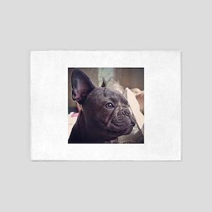 french bulldog 5'x7'Area Rug