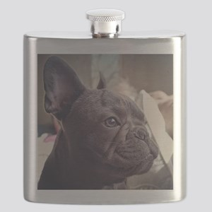 french bulldog Flask