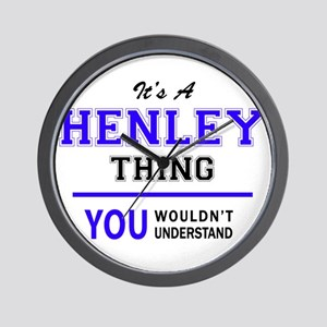 HENLEY thing, you wouldn't understand! Wall Clock
