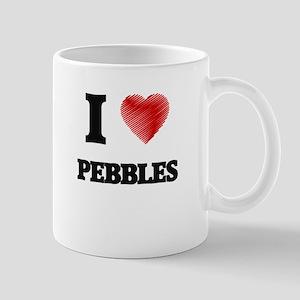 I Love Pebbles Mugs