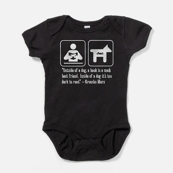 Book man's best friend Groucho Marx Baby Bodysuit