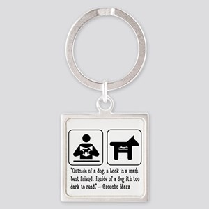 Book mans best friend Groucho Marx Square Keychain