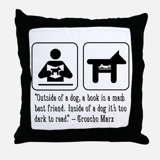Book man's best friend Groucho Marx Throw Pillow