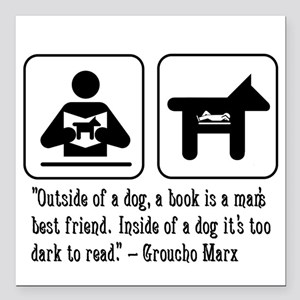 Book man's best friend Groucho Marx Car Magnet